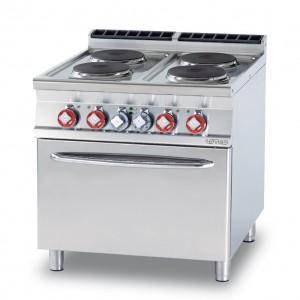 Cucina elettrica 4 piastre forno elettrico ventilato GN 1/1