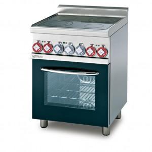 Cucina elettrica vetroceramica su forno multifunzione